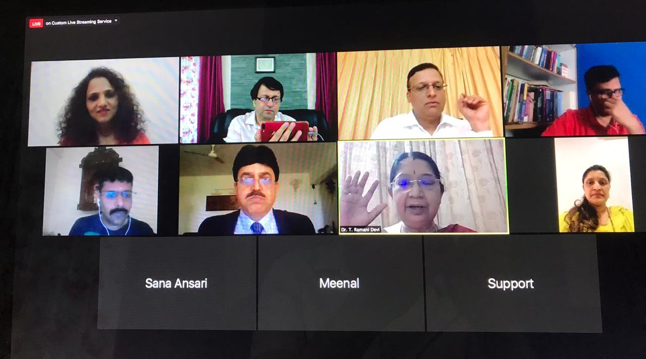 """Interactive webinar by Pune obgyn society and Perinatology Committee FOGSI on 29th May attended by 1910 doctors """"Role of Anti D Immunoglobulin in RH Negative Pregnancy"""""""